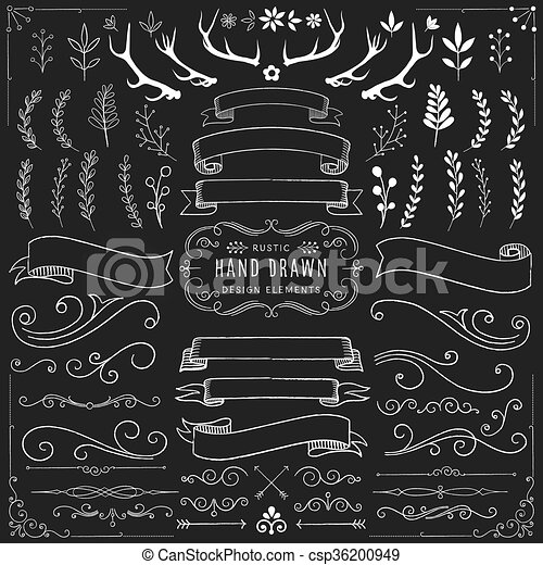 chalkboard clipart set chalk ornaments florals banners and scrolls rh canstockphoto com chalkboard wedding clipart free chalkboard clipart free