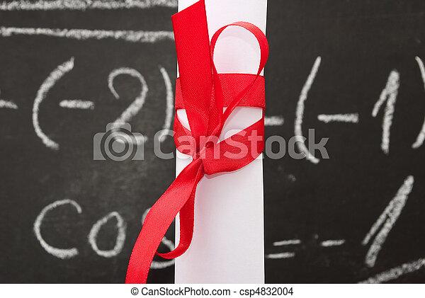 chalkboard, dyplom - csp4832004