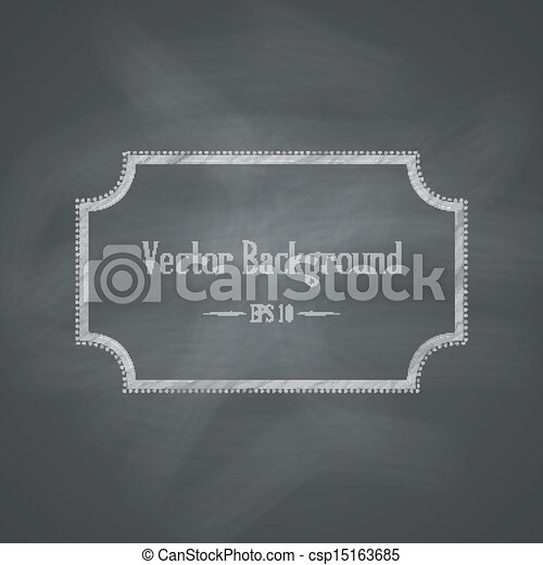 chalkboard, fundo, retro - csp15163685