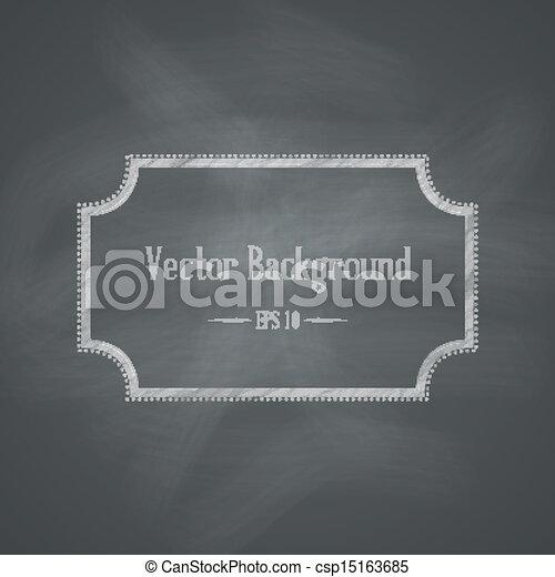 chalkboard, háttér, retro - csp15163685
