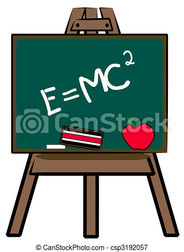 chalkboard on easel with theory of relativity stock illustrations rh canstockphoto com chalkboard clipart free png chalkboard arrow clipart free