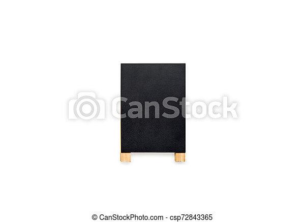 Chalkboard on white background. - csp72843365