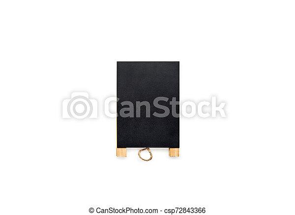 Chalkboard on white background. - csp72843366