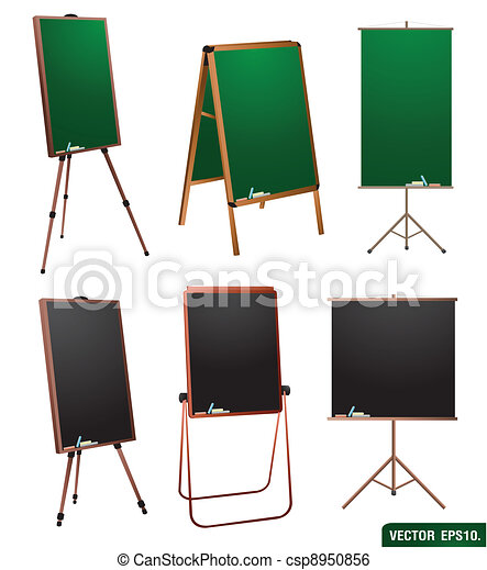Chalkboard stand. vector template for design work.