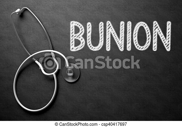 Chalkboard with Bunion. 3D Illustration. - csp40417697