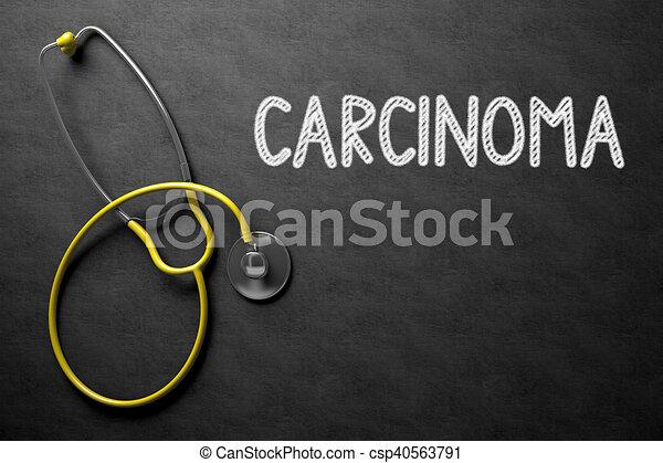 Chalkboard with Carcinoma. 3D Illustration. - csp40563791