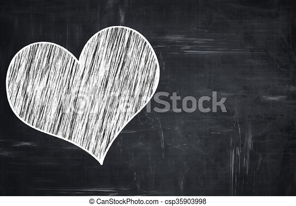 Chalkboard Writing Hearts Card Background