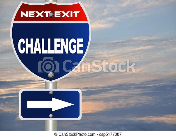 Challenge road sign - csp5177087