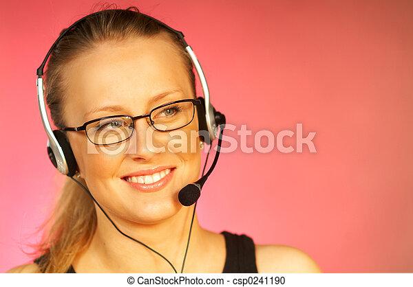 chamada, agente, centro - csp0241190