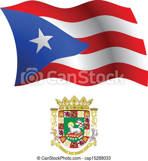 chamarra bandera ondulado puerto rico ondulado arte