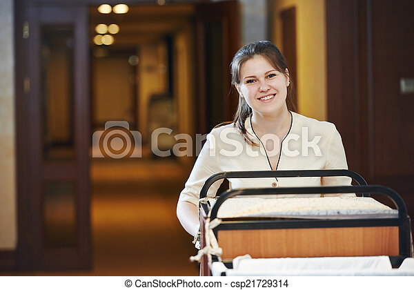 chambermaid at hotel - csp21729314