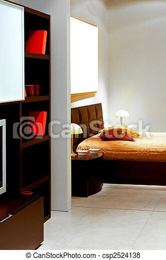 chambre à coucher, 2, vue - csp2524138