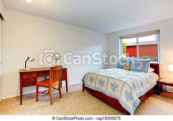 Chambre à coucher confortable bureau. plancher chambre à coucher