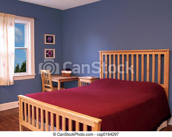 chambre à coucher - csp0164297