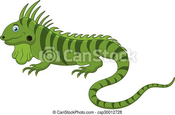 Chameleon cartoon - csp30012728