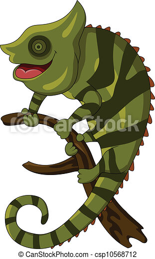 vector illustration of chameleon cartoon vector clip art - search