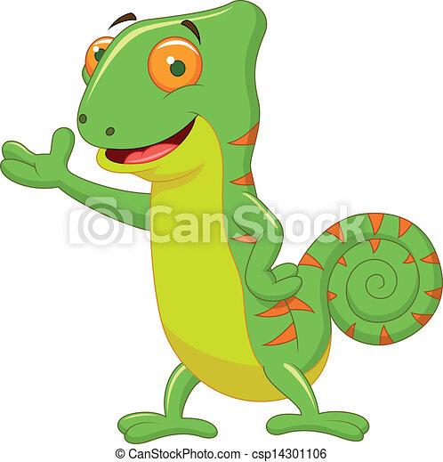 Chameleon cartoon - csp14301106