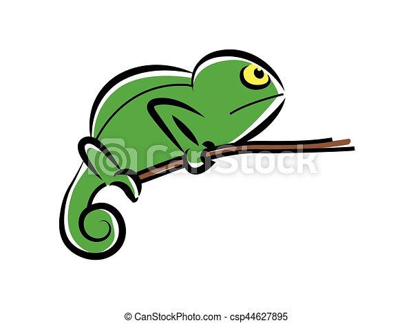 chameleon character - csp44627895