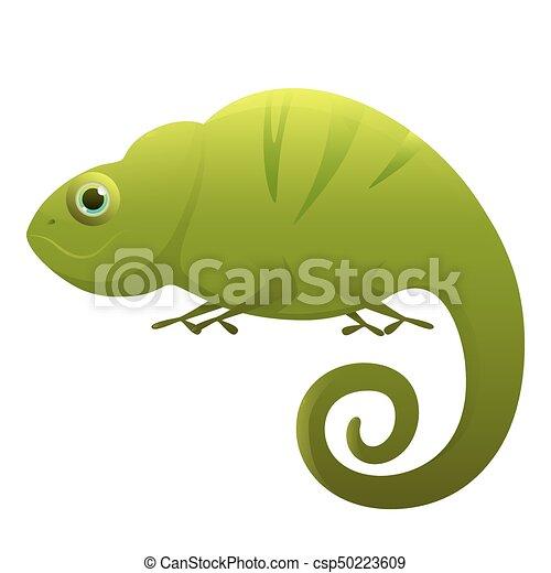 Chameleon cute cartoon character - csp50223609