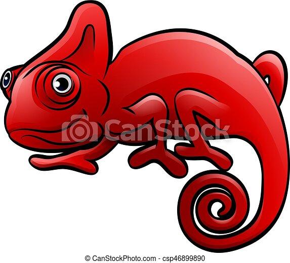 Chameleon Safari Animals Cartoon Character - csp46899890