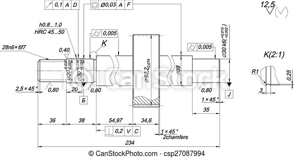chamfers welle skizze technik zeichnung welle skizze eps vektoren suche clipart. Black Bedroom Furniture Sets. Home Design Ideas
