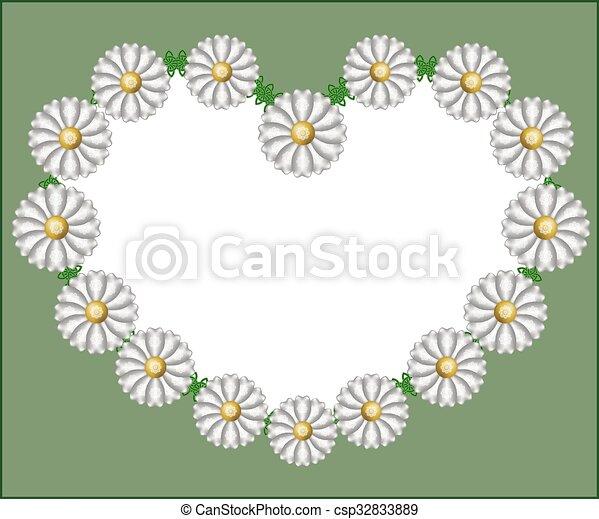 chamomile heart - csp32833889