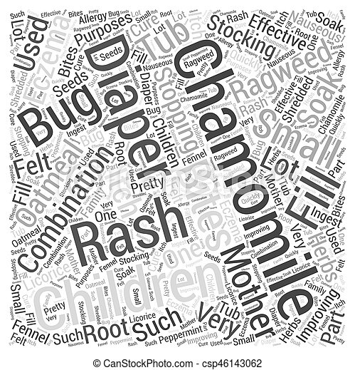 Chamomile Word Cloud Concept - csp46143062