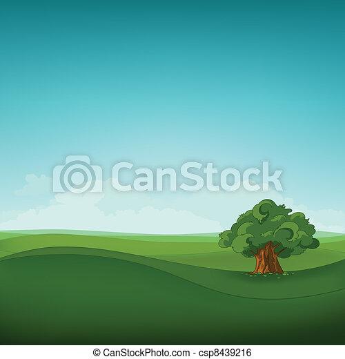 champ, paysage - csp8439216