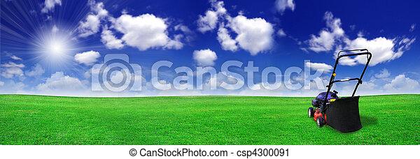 champ, pelouse, vert, faucheur - csp4300091
