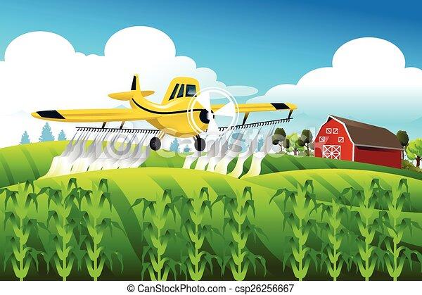 champ, sur, voler, recadrer chiffon - csp26256667