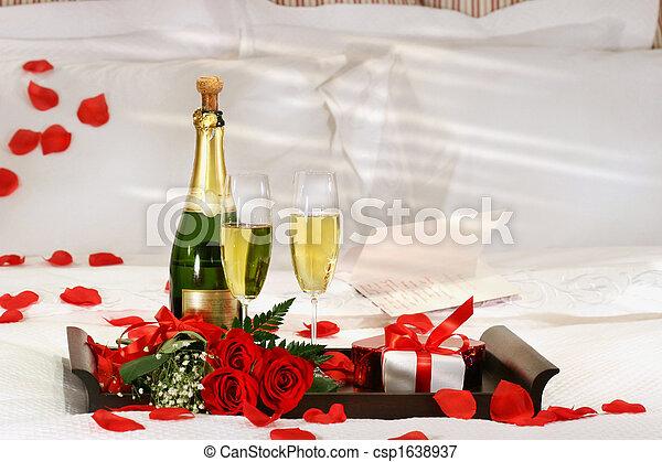 champaña, cama - csp1638937