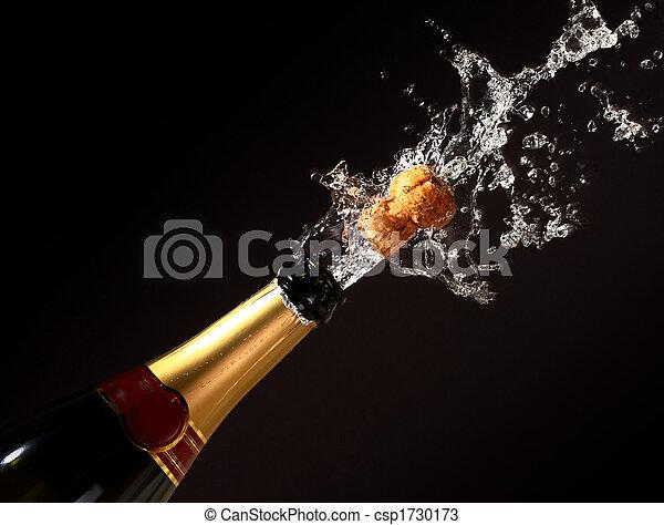 champagne bottle eruption - csp1730173