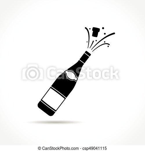 champagne bottle explosion icon - csp49041115