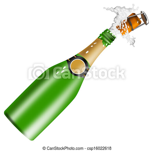 champagne bottle open lid illustration of champagne bottle rh canstockphoto com  champagne bottle opening clipart