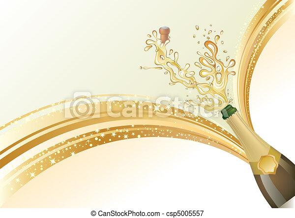 champagne, celebrare, fondo - csp5005557