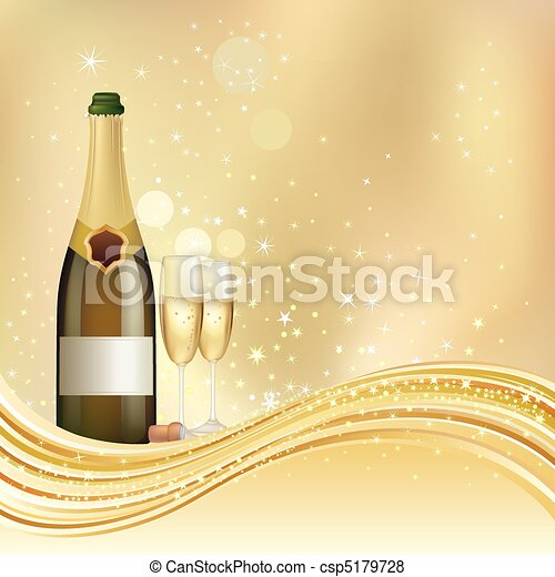 champagne celebrate background - csp5179728