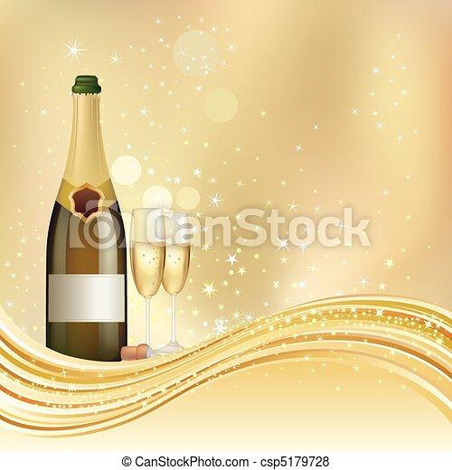 champagne celebrate background - csp5179728