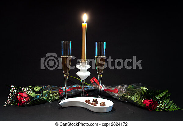 Champagne, chocolates and roses - 4 - csp12824172