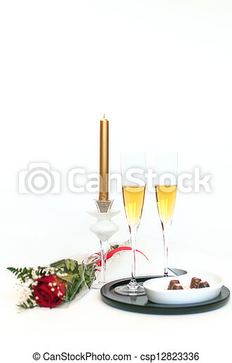 Champagne, chocolates and roses - 9 - csp12823336