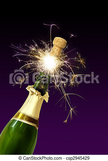 Champagne cork popping - csp2945429