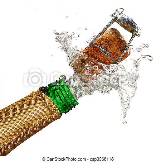 champagne, esplosione - csp3368118