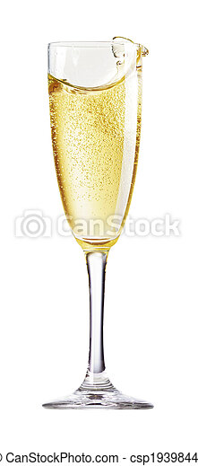 Champagne Glass with abstract splash - csp19398449