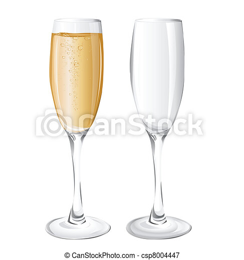 champagne glasses  - csp8004447
