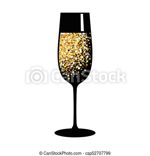 champagne gold black glass - csp52707799