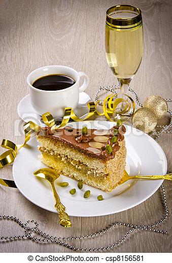 champagne, kaffe, halva, gâteau photographie de stock - rechercher
