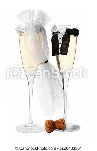 champagne, trouwfeest - csp0433361