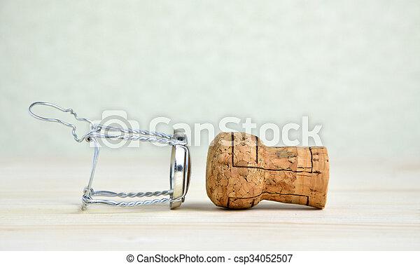 Champagner Draht Kork Draht Holzern Kappe Kork Tisch