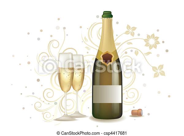 champanhe, celebração - csp4417681