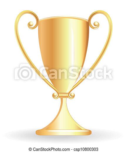 Champion cup - goblet golden - csp10800303