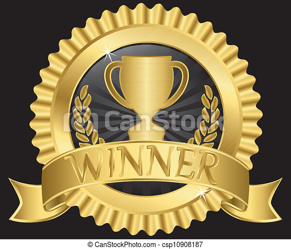 champion cup sign with golden ribbon  vector cup of coffee clip art transparent background cup of coffee clipart png
